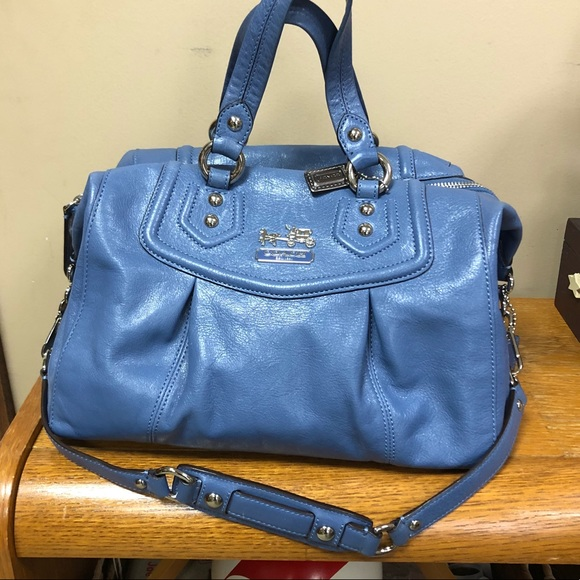Coach Handbags - Coach Madison Audrey Blue Periwinkle Handbag Purse